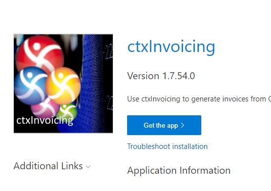 ctxInvoicing install